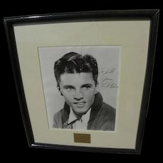 """RICK """"RICKY"""" NELSON (1940-1985) autographed inscribed photo of the actor musician singer songwriter"""