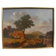 WILLIAM GALVEZ fine Dutch Old Master style landscape painting by noted California contemporary artist