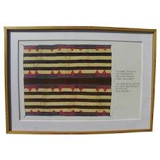 Navajo blanket serigraph print series example by Jack Silverman pencil signed