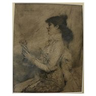 Sarah Bernhardt (1844-1923) autographed inscribed 1879 print of her by Jules Bastien-Lepage