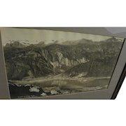 ED ANDREWS (1872-1937) Alaskana panoramic black and white photograph of Juneau Alaska by noted photographer
