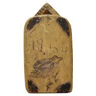 Folk art carved wooden box of tropical origin possibly Latin America