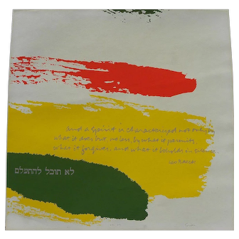"""SISTER MARY CORITA KENT (1918-1986) original hand signed serigraph print """"And a spirit is characterized"""" by the popular internationally recognized artist"""