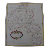 Antique map of Oxfordshire England by Robert Morden 1695