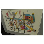 Hommage to Wassily Kandinsky abstract contemporary drawing of geometric shapes