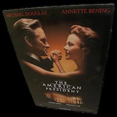 """Michael Douglas and Rob Reiner signed movie poster for """"The American President"""" 1995"""