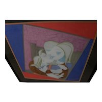 After PABLO PICASSO (1881-1973) silk scarf featuring 1938 painting