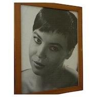 Actress LESLIE CARON (1931-) inscribed autograph vintage photo circa early 1960's