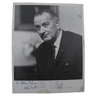 LBJ---Lyndon Baines Johnson inscribed signed 1965 black and white photo of the 36th president