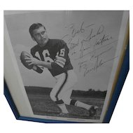 BILL NELSEN Cleveland Browns pro football memorabilia early 1970's signed inscribed black and white photo