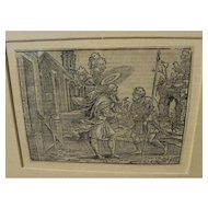 HANS BROSAMER (1506-1554) wood engraving by early German Old Master artist