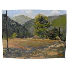 GRACE ALLISON GRIFFITH (1885-1955) Northern California plein air art oil landscape painting