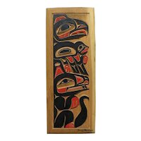 NORTHWEST COAST ART original hand carved panel by noted contemporary carver JAMES MADAM