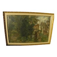 PETER GREENHAM (1909-1992) impressionist painting of the Roman Forum by English impressionist master artist