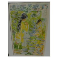 LE PHO (1907-2001) pencil signed lithograph by important Vietnamese artist