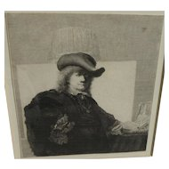 IGNACE JOSEPH DE CLAUSSIN (1766-1844) etching after Rembrandt by ardent Rembrandt scholar of his day