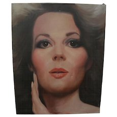 Actress Natalie Wood glamor portrait painting
