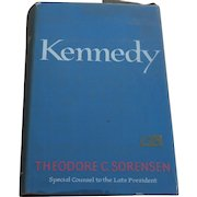 """Signed inscribed 1965 book """"KENNEDY"""" by Ted Sorensen special adviser and friend to JFK"""