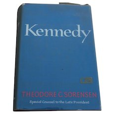 "Signed inscribed 1965 book ""KENNEDY"" by Ted Sorensen special adviser and friend to JFK"