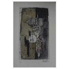 JOHNNY FRIEDLAENDER (1912-1992) pencil signed aquatint etching by important print maker