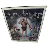 JOHNNY WEISSMULLER scarce entertainment memorabilia signed limited edition 1977 Tarzan poster