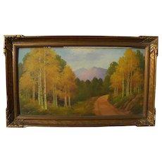 WILLARD PAGE (1885-1958) Southwestern art autumn in mountains landscape painting