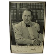 Juan Peron signed inscribed 1955 photo of the controversial Argentine president