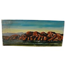 BROOKS PETTUS (1918-2003) Southwest landscape painting 1964 by noted artist