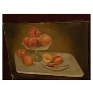 CHARLES HARMON (1859-1936) listed California art early still life painting