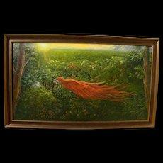 Dream-like fantasy landscape painting by contemporary artist Selene