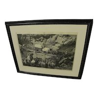 "Harper's Weekly May 1875 original large wood engraving print ""On the Way to the Diggings"""
