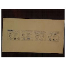 PEANUTS copy drawing Charles Schulz comic strip art