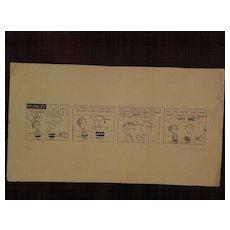 PEANUTS copy drawing Charles Schulz comic strip art