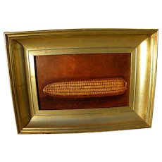 American painting of corn on cob likely by ALFRED MONTGOMERY (1857-1922)