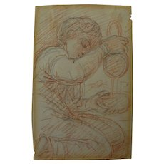 PRINCE HOARE Jr. (1755-1834) English Old Master pencil and chalk drawing