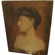 BERTHA TOWNSEND COLER (1865-1948) portrait painting by listed California woman artist