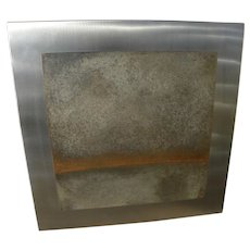 JEFFREY JON GLUCK contemporary metal wall sculpture by noted American artist and craftsman