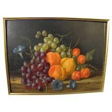 JAN FREDRIK JOHANNES NAGTEGAAL (1920-2000) still life painting of fruit in realistic style