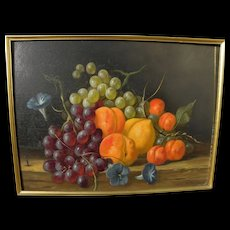 JAN FREDRIK JOHANNES NAGTEGAAL (1920-2000) still life painting of fruit in realistic style