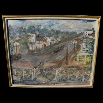 J. N. GLERIA impressionist European street scene painting