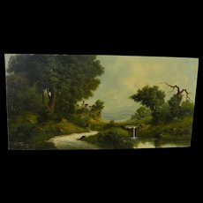 TONI BORDIGNON (1921-) Old Master style capriccio landscape painting by listed artist