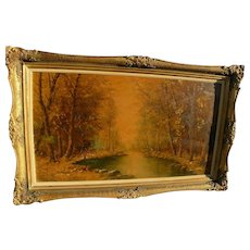 Russian or Ukrainian impressionist landscape painting signed