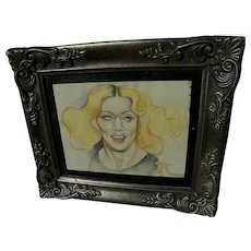"""Madonna original caricature drawing by contemporary gallery artist """"14"""""""
