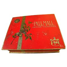 Vintage tobacciana Pall Mall red metal cigarette box circa 1935
