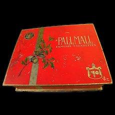 Vintage tobacciana Pall Mall red metal cigarette box circa 1935