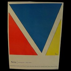 VERA NEUMANN (1907-1993) colorful mid-century pencil signed exhibition poster by contemporary design pioneer