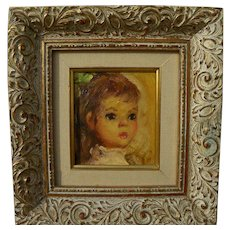 ESTHER SEYMOUR STEVENSON oil painting of young child by noted Chicago artist