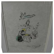 "MARC CHAGALL (1887-1985) original pencil signed numbered lithograph print ""King David"", 1974"