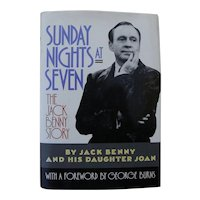 "Entertainment memorabilia comedian Jack Benny book ""Sunday Nights at Seven"" 1990 copy SIGNED by his daughter Joan"