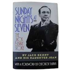 """Entertainment memorabilia comedian Jack Benny book """"Sunday Nights at Seven"""" 1990 copy SIGNED by his daughter Joan"""